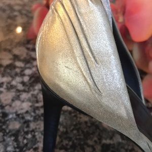 Gucci Shoes - AWESOME!!! Sueded a matte gold with tie detail